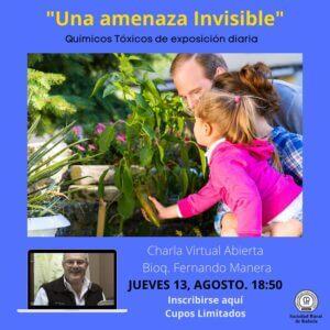 """Lee más sobre el artículo Charla Virtual Abierta: """"Una amenaza invisible"""" -Químicos Tóxicos de Exposición Diaria- A cargo de Fernando Manera-"""