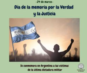 Lee más sobre el artículo 24 de Marzo: Día de la memoria por la Verdad y la Justicia