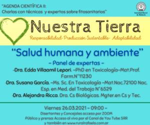 """Lee más sobre el artículo AGENDA CIENTIFICA II: """"Salud humana y ambiente""""          -Panel de expertas-"""