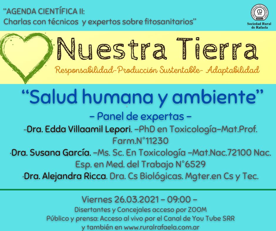 """En este momento estás viendo AGENDA CIENTIFICA II: """"Salud humana y ambiente""""          -Panel de expertas-"""