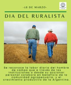 18 de Marzo: Día del Ruralista
