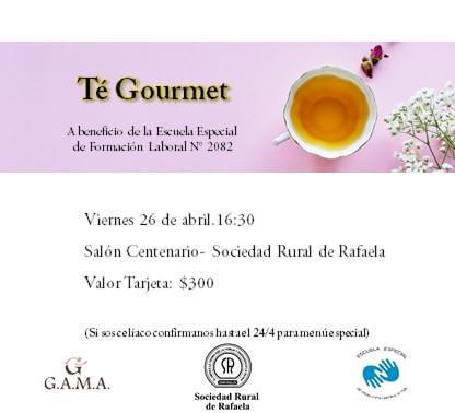 """En este momento estás viendo """"Té Gourmet"""" a beneficio de la Escuela Especial de Formación Laboral N°2082"""
