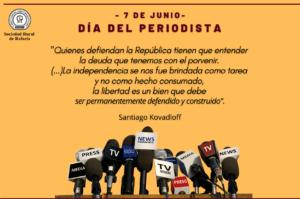 Lee más sobre el artículo 7 de Junio: Día del Periodista