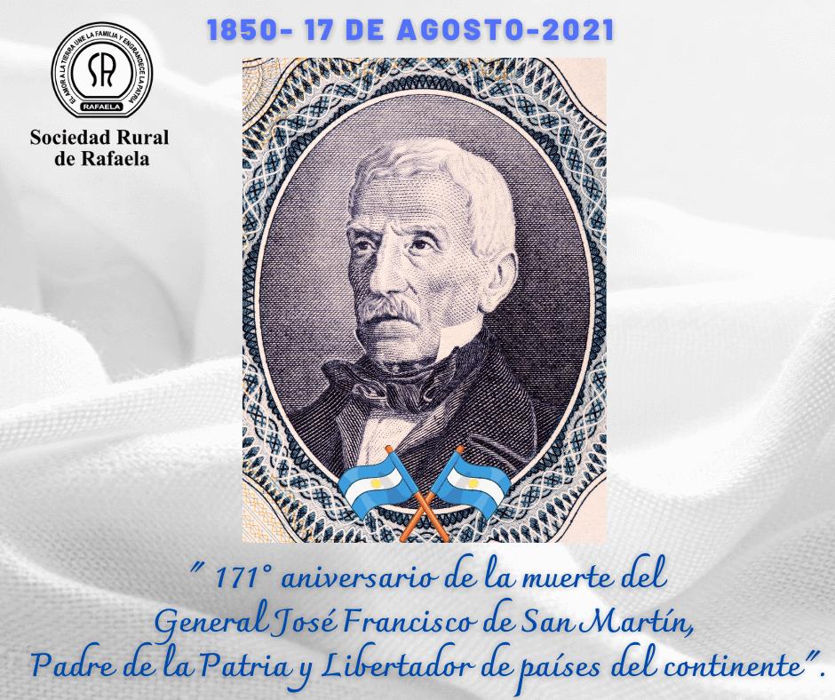 En este momento estás viendo 17 de Agosto-Aniversario de la muerte del Gral. José de San Martín. Un día para reflexionar…