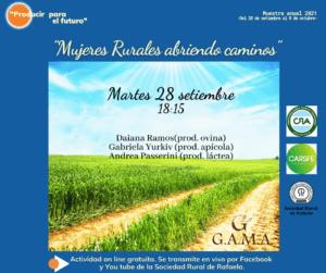 """Lee más sobre el artículo """"Mujeres Rurales abriendo caminos"""", la charla que abre la Muestra 2021 de la Rural"""